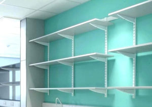 HOME OFFICE DECORATION - WALL-MOUNTED SHELVING SYSTEM