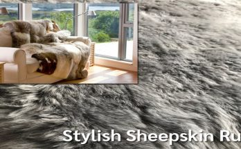 The Naturally Stylish Sheepskin Rug Fits Right In